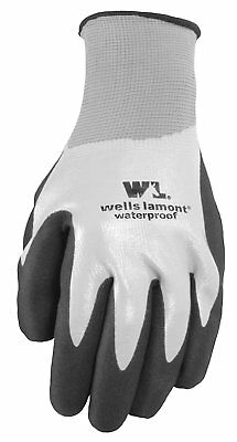 Wells Lamont Waterproof Work Gloves, Nitrile Coated, Large 568L