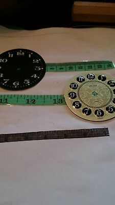 two vintage clock faces new old stock