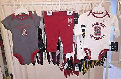 Stanford Univ. Cardinals Three Piece Outfit 3/6 & 6/9 Months NIKE NWTs Reg $36
