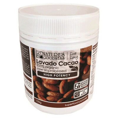 Natures Goodness Lavado Cacao High Potency Organic Powder 150g