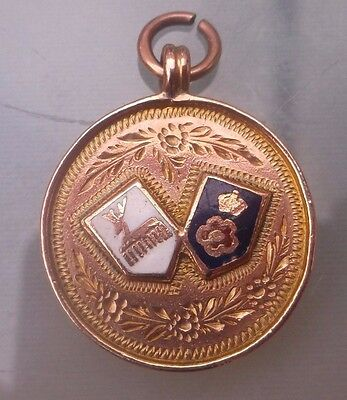 'CHESTERFIELD ROYAL HOSPITAL JUN'R CUP WINNERS Medal 1925 Weight 4g Hallmarked