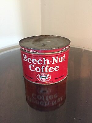 Antique Beech-Nut Coffee Tin Can