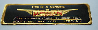 Antique Union Chest Label Machinist Chest/Toolbox Very Fine Reproduction