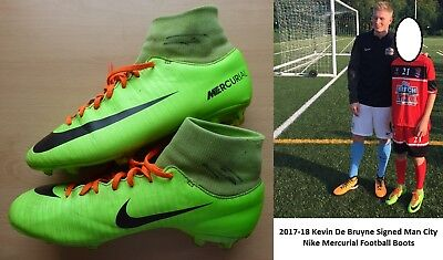 2017-18 Kevin De Bruyne Signed Man City Nike Boots with Exact Proof (11449)