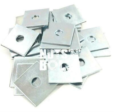 M10 & M12 50mm x 50mm x 3mm THICK SQUARE PLATE WASHERS ZINC PLATED