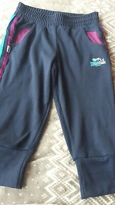 Girls Lonsdale Two Stripe 3/4 Length Tracksuit Bottoms