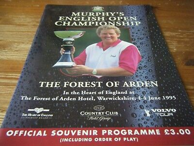 1995  Murphys English Open  Golf  Programme  Held At The Forest Of Arden Bham