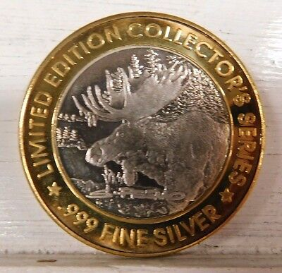 Grand Casino Limited Edition .999 Silver Gaming Token 1996 Moose