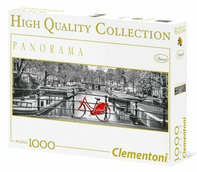 Clementoni AMSTERDAM Street Red BICYCLE Panorama 1000 pieces PUZZLE