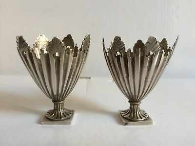 Antique Pair Of Turkish Ottoman Islamic Cup Holder 'Zarf' Silver Or Egg Cup