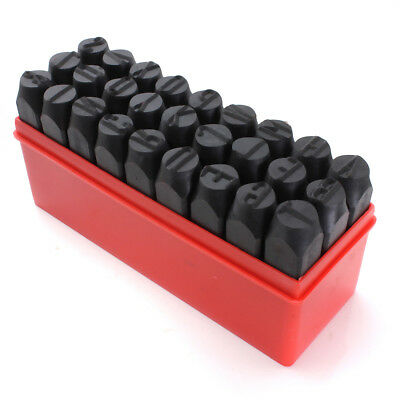 SS Stamps Letters Alphabet Set Punch Steel Metal Tool Case Craft Hot 6mm