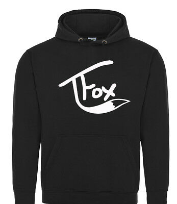 Tanner Fox Black Hoodie Child / Adult Sizes Youtubers Tfox Scooter Trick
