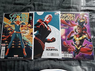 Marvel Set of 8 Captain Marvel Comics inc 1st Prints & Rare Variants! Brand New!