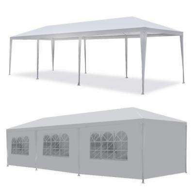 New 10'x30' White Canopy Party Outdoor Gazebo Wedding Tent 8 Removable Walls