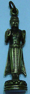 Buddha holding back the waters  brass bronze molded sculpture