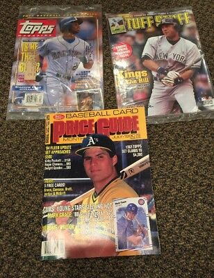 Baseball Price Guides Lot Topps Magazine Tuff Stuff 1990s Jeter 2003 With Cards!
