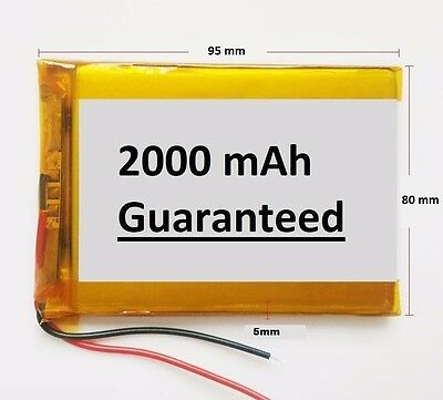 2000mAh 3.7V LiPo Li Ion Lithium-ion Rechargeable Battery For GPS Tablet PC