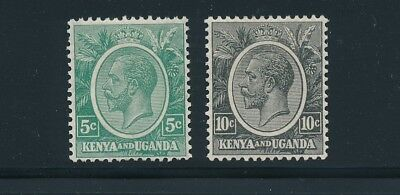 Kenya & Uganda #20 & 22 *(2) VF-XF GEORGE V ISSUES 1927*; MLH; NICE STAMPS-FRESH