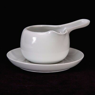 Hutschenreuther Gravy Boat and Underplate Bianca Tavola Line White Two Pieces