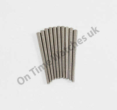 10x  Steel Tapered Pins/ Long Case/ Wall/Carriage/Mantle clock pins- 2 sizes