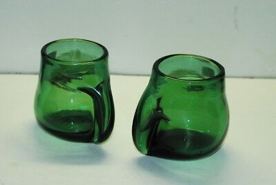2 Blenko Blueish Greenish Handled Mug Mugs Mid Century Modern