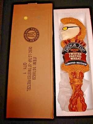 *new* Shock Top - Twisted Pretzel Wheat  - Beer Tap Handle (Limited Edition) Nib