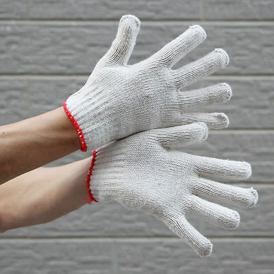10 Pairs Cotton Work Gloves Industrial Working Gloves Personal Protective N_o