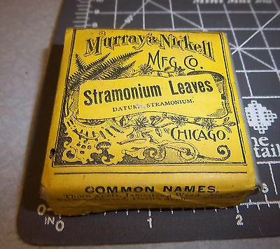 Vintage Murray & Nickell, Stramonium Leaves, 1900s Pharmacy New box, Chicago