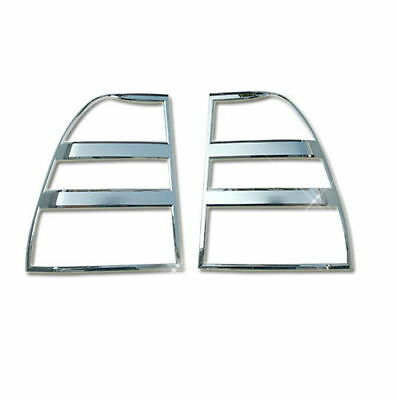 Autoclover Chrome Silver Tail Light Lamp Cover Garnish for Kia 05-10 Sportage
