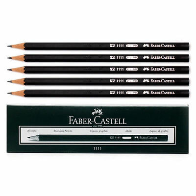 [FABER CASTELL] 12 Pieces Black Faber HB Pencils Stationery Drawing N_o