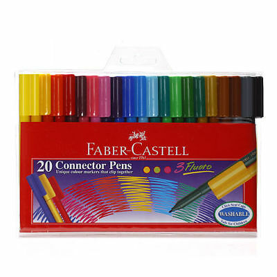 [FABER CASTELL] 20 Colors Connector Pens Drawing Lettering Supply Stationery N_o