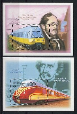 Gambia 2001 Trains Set of 2 MS MNH