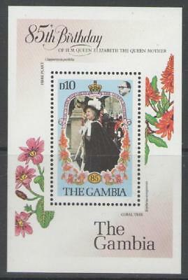 Gambia 1985 Queen Mother MS MNH