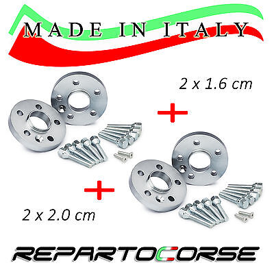 KIT 4 DISTANZIALI 16 + 20 mm REPARTOCORSE - FIAT PANDA II 100 hp - MADE IN ITALY