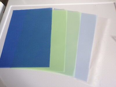5 X Vellum Sheets In Different Styles   29X21 Cm New New (Vs11)