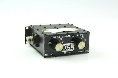 K&L 2TR-20 Tunable Bandreject Filter 30-60 MHz Working #2