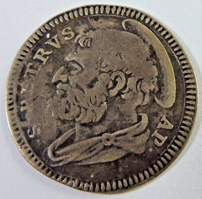 Papal States 1734 Grosso Silver Coin