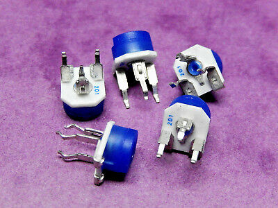 200 OHM 6mm TRIMMER BOURNS 3306P-1-201 Cermet Track PACK of 5