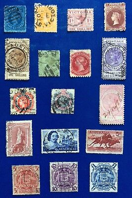 British Commonwealth 17 High Value Stamps From Australia Victoria/ + (Lot220)