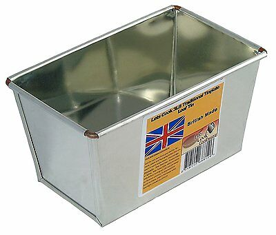 3LB Loaf Tin Bakers Tinplate Ideal for Farmhouse & Large Loaves by Lets Cook