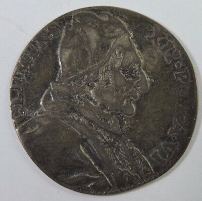 Papal States 1735 1 Giulio Silver Coin