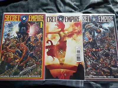 Marvel Complete Set of 10 Secret Empire Comics First Print Brand New! Mint!