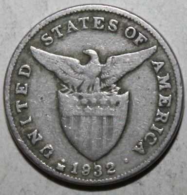 The Philippines (US Administration) 5 Centavos Coin, 1932 M - KM# 175 - Five USA