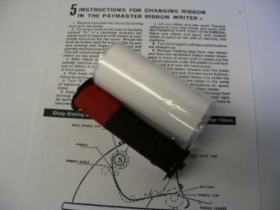 Paymaster 8000 (8-column) replacement ink ribbon (red/black), New, Free Shipping