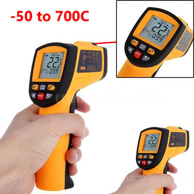 -50ºC to 700ºC Digital IR Thermometer Infrared with Laser LCD Non-Contact GM700