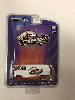 2012 GREENLIGHT Super Convention 1977 CHEVROLET G20 VAN Limited RED Edition J