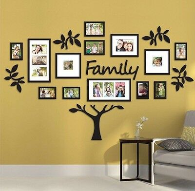 """19 Piece """"Family Tree"""" Wall Photo Frame Set Picture Collage Home Decor Art Gift"""