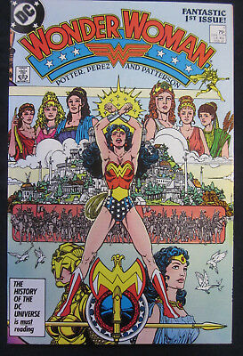 WONDER WOMAN #1 1987 DC Comics (2nd Series) NM- 9.2 High Grade GEORGE PEREZ