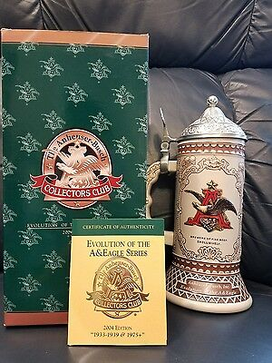 Anheuser Busch Collectors Club Beer stein 2004 edition