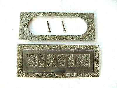 Rare Vintage MAIL Letter Slot-Solid Brass Heavy